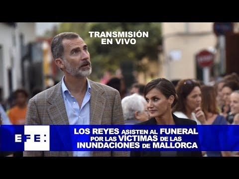 Los Reyes de España asisten al funeral por las víctimas de las inundaciones