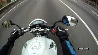 First kilometers on my new Honda CB600F Hornet 2012