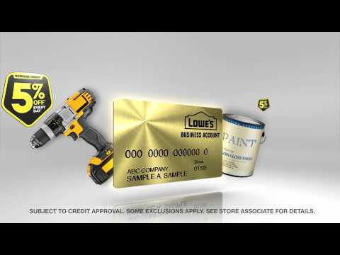 Lowe's Business Account - Business Credit