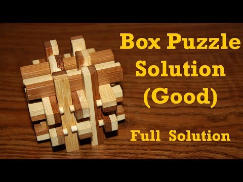 Box Puzzle Solution Good Youtube