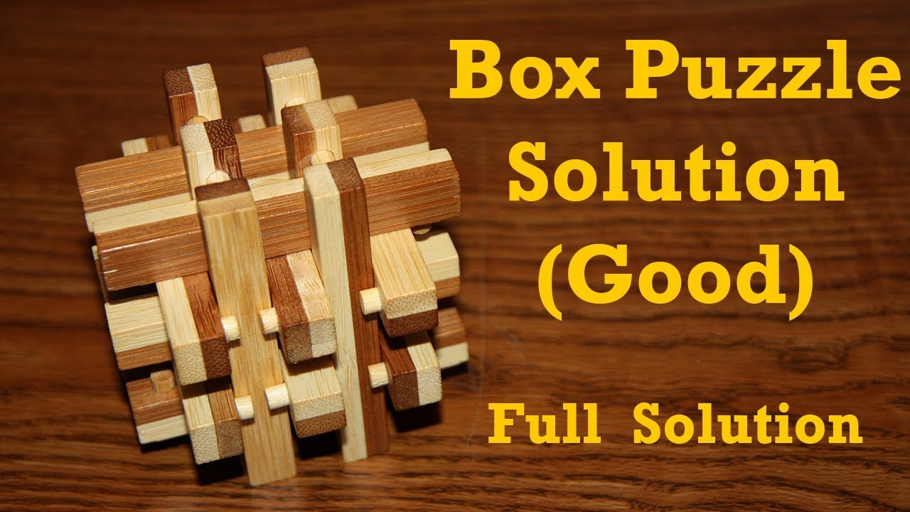 Box Puzzle Solution - Good