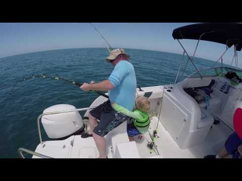 US Marine battles Goliath Grouper (with 4yr old helping)