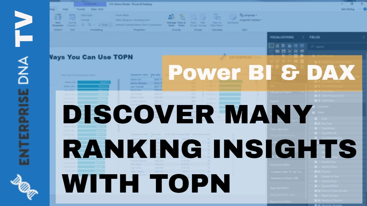 Different Ways You Can Use The TOPN Function - DAX In Power BI