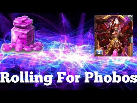 Rolling 260,000 Gems For New Hero Phobos Castle Clash