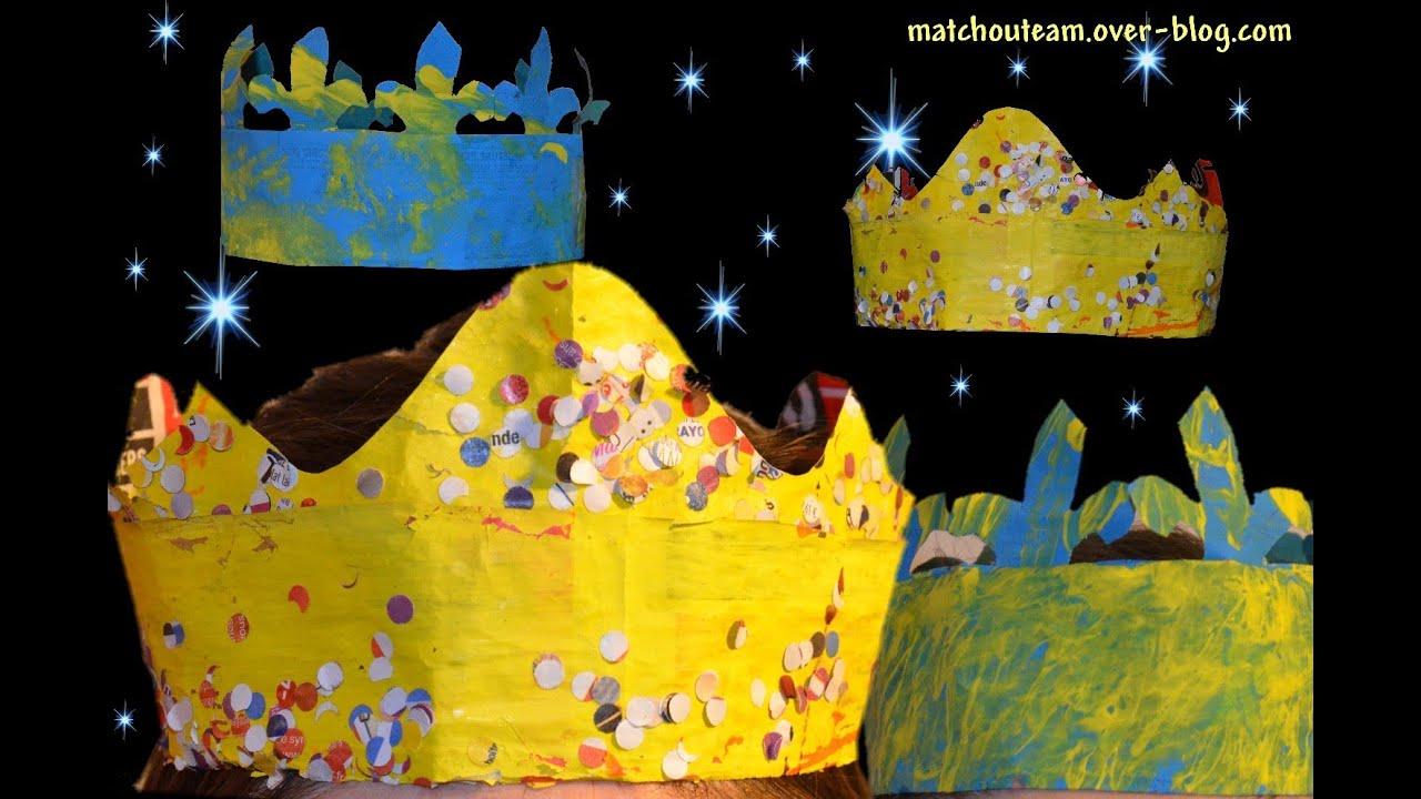 Fabriquer une couronne de roi en papier journal youtube - Fabriquer une couronne en papier ...