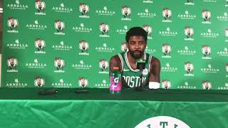 Kyrie Irving happy, excited to be with Boston Celtics this season