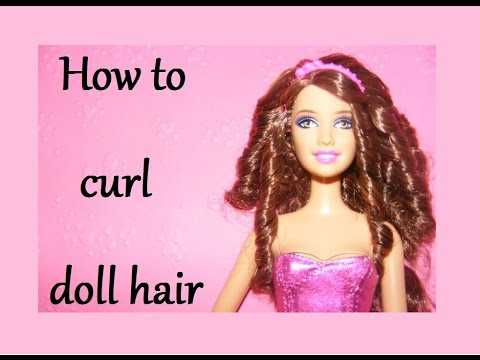 How To Curl Doll Hair Easily Youtube