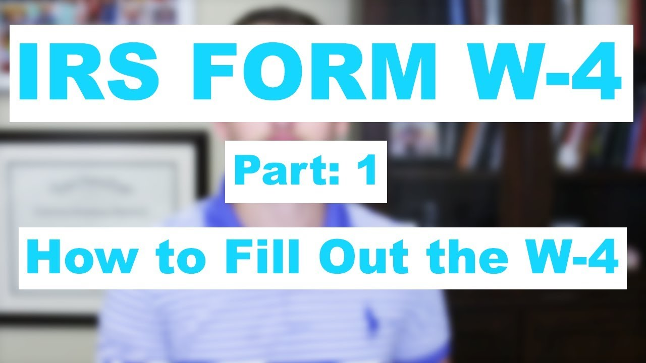 Irs form w 4 part 1 how to fill out the w 4 youtube irs form w 4 part 1 how to fill out the w 4 falaconquin