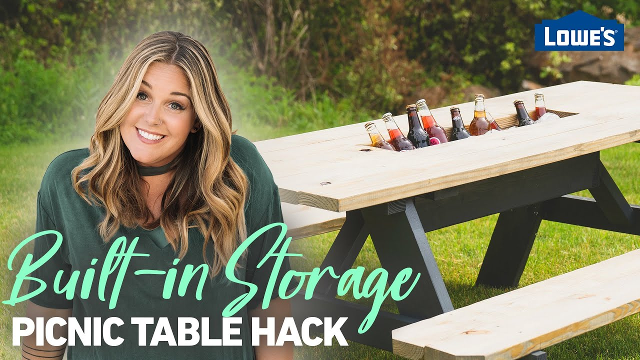 Picnic Table Hacks: Built-In Storage