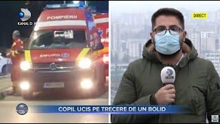Stirile Kanal D (14.11.2020) - Copil ucis pe trecere de un bolid | Editie de pranz