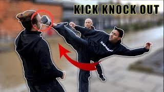 How to do a kick knock out | Street Fight