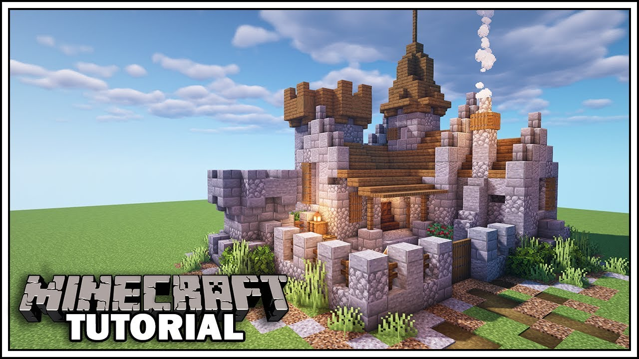 Minecraft Small Castle Tutorial How To Build Youtube