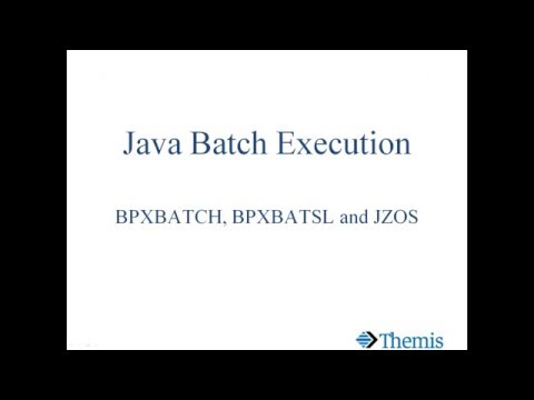 Developing Java Applications for z/OS Batch Execution
