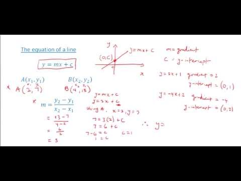 CSEC Maths - Gradient, midpoint, equation and length of a line