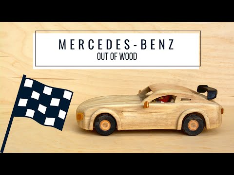 How To Make a Wooden Toy Mercedes-Benz | Based on AMG GT R - Wooden Creations