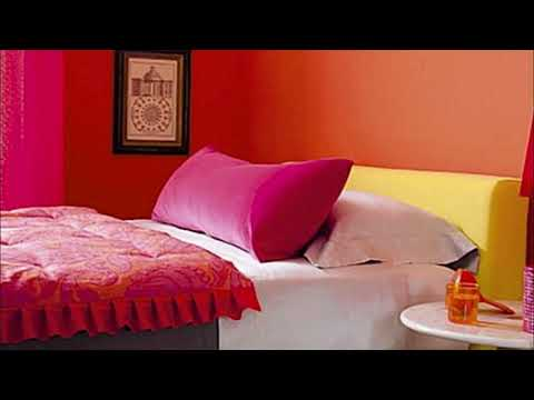 Two Colour Combination for Bedroom Walls Asian Paints
