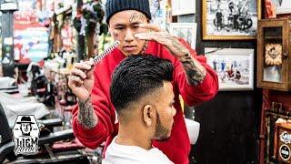 Baixar Side Part Pompadour Haircut [Liem Barber Shop's collection]