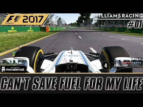 F1 2017 (PS4): Australian Grand Prix | CAN'T SAVE FUEL FOR MY LIFE | Williams Career [Part 1]