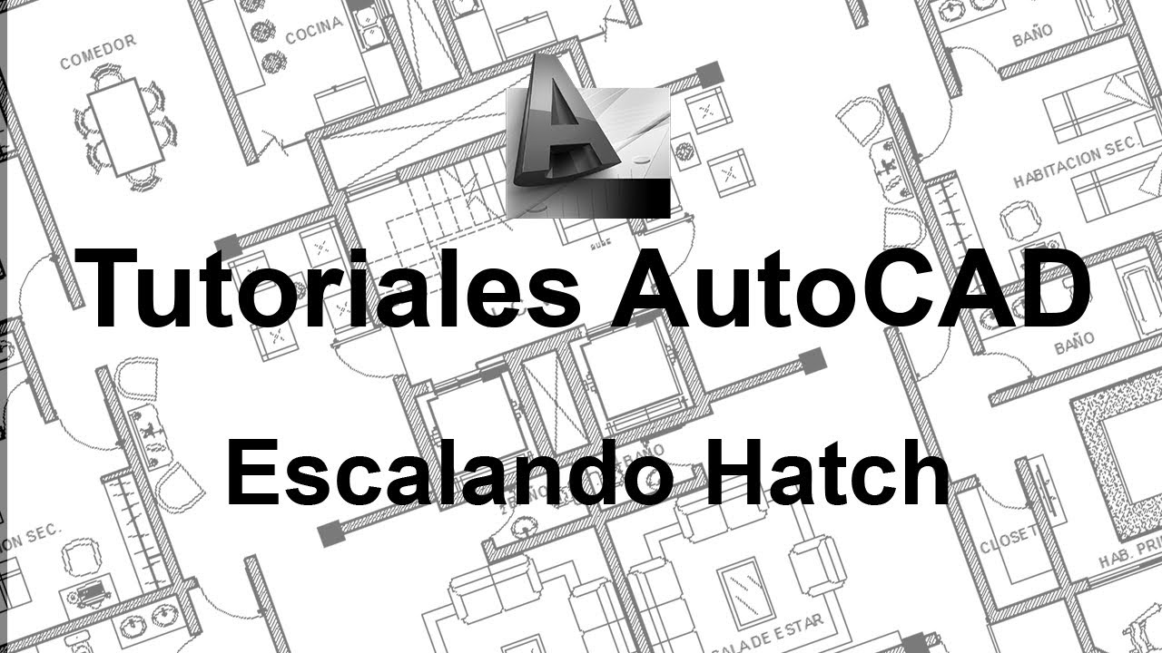 Auto CAD - Escalando Hatch - Aplicaste el hatch y no se ve - YouTube
