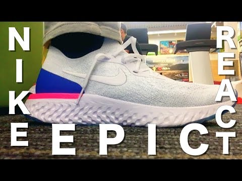 big sale c720c d1d33 Trying on the Nike Epic React Flyknit