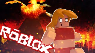 Roblox | RUN FROM ERUPTING VOLCANO! Natural Disaster Survival Roblox! (Volcanoes)