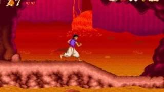 Disney's Aladdin (SNES) - Part 2: Stages 3, 4 & 5 + Bonus Stage (No Damage + All Red Gems)