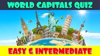 World Capitals Quiz | Capital Cities Quiz | Geography Quiz | Trivia Level: Easy