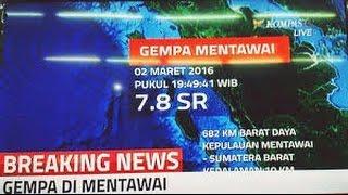 VIDEO Gempa 8,3 Skala Richter Guncang Mentawai, Berpotensi Tsunami -  Berita 2 Maret 2015