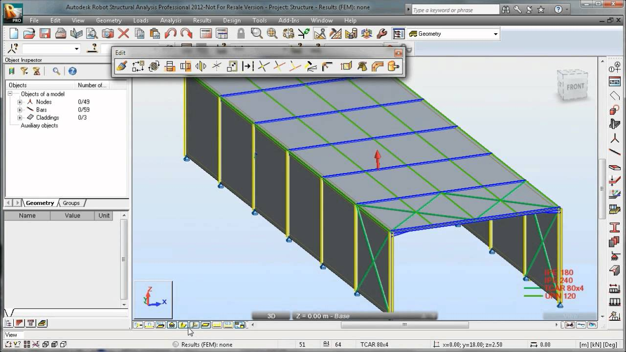 Autodesk Robot Structural Analysis Steel Design Youtube
