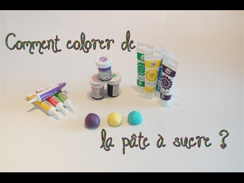comment colorer de la pte sucre how to color the sugar paste youtube - Comment Colorer La Pate A Sucre