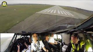 RARE Antonov 26 cargo plane touch & go maneuver by Air Urga  [AirClips]