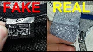 Real vs. Fake Nike zip up jacket. How to spot fake Nike hoodies.