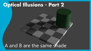 Why does the checkerboard illusion work?