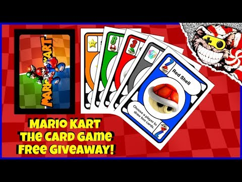 Mario Kart the Card Game!  Free gift and Giveaway!