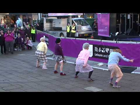 'The Dancing Grannies' strut their stuff in Stafford