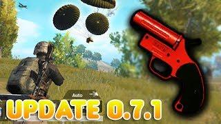 FLARE GUN + SPECIAL AIR DROP UPDATE 0.7.1 | PUBG MOBILE