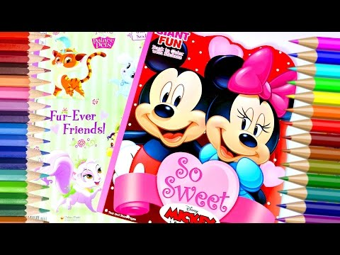 Coloreando A Blancanieves Y  Mickey Mouse|Coloring Books For Kids|Mundodejuguetes