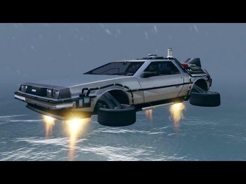 GTA 5 Mod: Delorean
