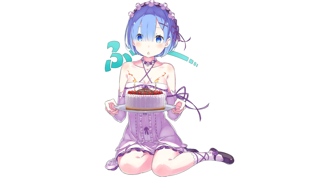 Cute Girl Glasses Wallpaper Happy Birthday Rem From Subaru Youtube