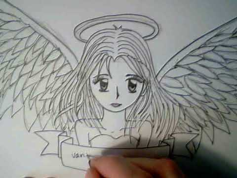 How to draw a manga angel
