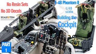Building The Tamiya F-4B Phaฑtom II Part 1 How to build the cockpit.