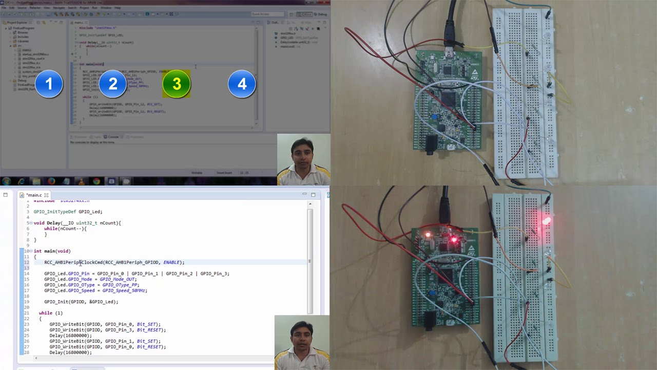 STM32F4Discovery Tutorial 5 - Leds Blinking