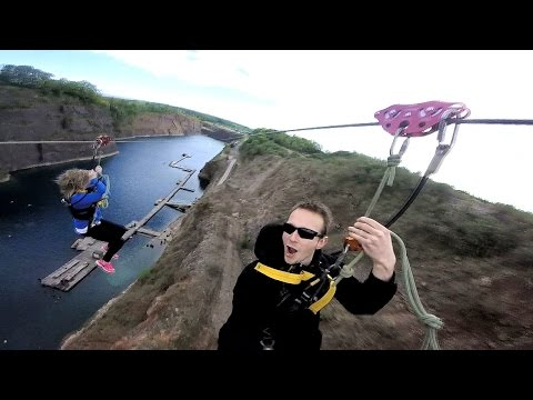 The Wire Zip line Chepstow Diving Centre 9 May 2015