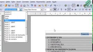 Parte 6 - Sumário automático (índice) Lista de Figuras e Tabelas no Writer BrOffice / ABNT