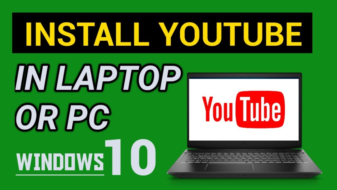 How to install youtube App for laptop in Window 8 or Pc  Install Youtube  app in laptop