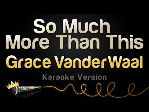 Grace VanderWaal - So Much More Than This (Karaoke Version)