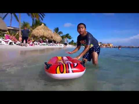 Me in Curacao, Mumbo Beach, Inflatible Lie-Down Boat