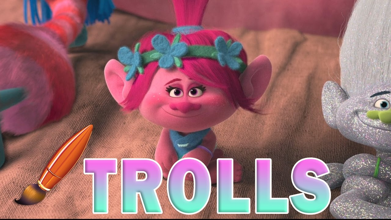trolls movie poppy guy diamond coloring book pages video for kids