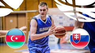 Azerbaijan v Slovakia - Full Game - Class 17-22 - FIBA U20 European Championship Division B 2018