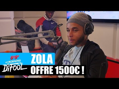 Youtube: Zola offre 1500€ à un auditeur ! #MorningDeDifool